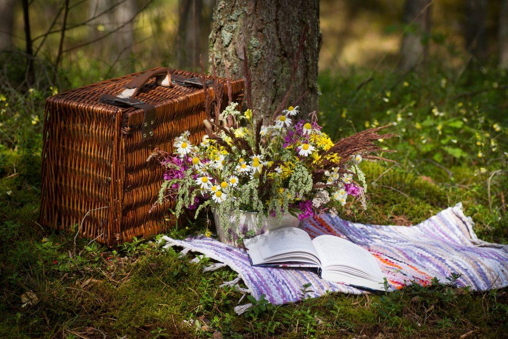 Urlaubsfeeling picknickkorb garten